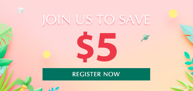 Register to Get $5 Off